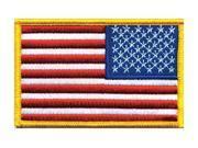 HEROS PRIDE 0022 Embroidered Patch, U.S. Flag, Medium Gold 9SIA5D52R89271