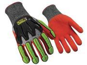 Ringers Gloves Size XL  Size XL Cut Resistant Gloves, Black/Hi-Vis Orange/Hi-Vis 9SIA5D52R81948