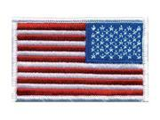 HEROS PRIDE 0039 Embroidered Patch, U.S. Flag, White 9SIA0SD59N0851