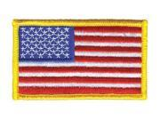 HEROS PRIDE 0001HP Embroidered Patch, U.S. Flag, Medium Gold 9SIA5D52NR4293
