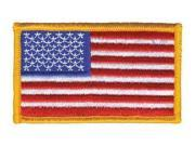 HEROS PRIDE 0003HP Embroidered Patch, U.S. Flag, Dark Gold 9SIA5D52R90350