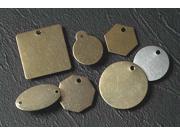 HANSON 42532 Blk Tag, 2 x 2 In, Brs, Octagonal, PK25