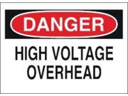 BRADY 43124 Danger Sign, 10 x 14In, R and BK/WHT, ENG