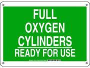 BRADY 125701 Chemical Sign, Plastic, 10 x 14 in, Wht/Grn