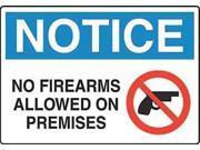 Notice Security Sign, Brady, 23092, 10
