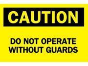 BRADY 47060 Caution Sign, 7 x 10In, BK/YEL, Fiberglass