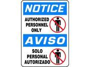 Image of ACCUFORM SIGNS SBMADM866VA Notice Sign, 14 x 10In, R and BK/WHT, AL