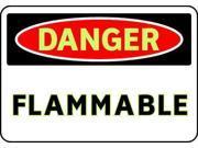 BRADY 102479 Danger Sign, 7 x 10In, R and BK/WHT, FLMB