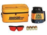 JOHNSON 406526 Rotary Laser Level, Int/Ext, Red, 1500 ft.