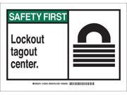 BRADY 26583 Safety Shower Sign,10 x 14In,ENG,SURF