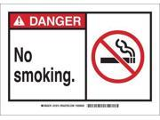 BRADY 26590 Danger No Smoking Sign, 10 x 14In, ENG