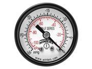 WINTERS PEM1397LF Gauge, Pressure, 1-1/2in, 30in. Hg Vac to 0