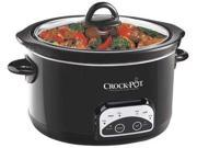 CROCK POT SCCPRP501-B-A Slow Cooker, Programmable, 5 qt., 120V