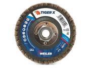 WEILER 51213 Flap Disc, 5 in.x60 Grit, 5/8-11, 12000 RPM