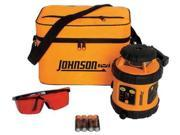 JOHNSON 406515 Rotary Laser Level, Int/Ext, Red, 800 ft.