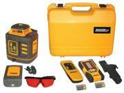JOHNSON 406532 Rotary Laser Level, Int/Ext, Red, 2000 ft.