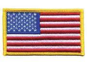 HEROS PRIDE 0002 Embroidered Patch, U.S. Flag, Medium Gold 9SIA5D53V95968