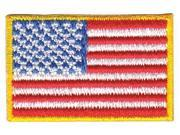 HEROS PRIDE 0028 Embroidered Patch, U.S. Flag, Medium Gold 9SIA0SD5BS7072