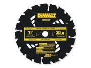 DEWALT DW3574 Crclr Saw Bld,Crbde,7-1/4 In,20 Teeth G7421303