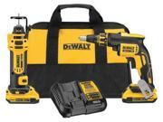 DCK263D2 20V Max XR Cordless Lithium-Ion Brushless Drywall Screwgun and Cut-Out Tool Combo Kit