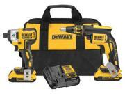 DCK261D2 20V Max XR Cordless Lithium-Ion Brushless 2 Ah Screwgun and Impact Combo Kit