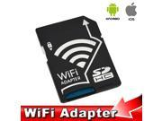 WiFi SD Adapter Micro SDHC TF-SDHC Card Adaptor for Apple IOS Android
