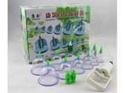 Chinese Medical 12 Cups Vacuum Body Cupping Set Portable Massage Therapy Kit 9SIA5DR3NT7805