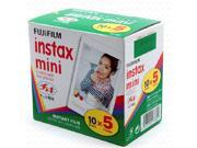 50 Sheets Original Fuji Fujifilm Instax Mini Film White Sheet For Polaoird mini 7 7s 8 10 20 25 50s 50i