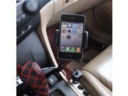 Car Vehicle Smartphone Holder Mount Stand With Dual USB Ports Car Cigarette Charger Cradle For Cellphone