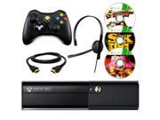 Microsoft Xbox 360 Black 4GB Gaming Console + Wireless Controller + Headset + HDMI Cable + 3 Free Games