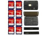 Dane-Elec 4GB Pro Class 4 SDHC SD Flash Memory Card 8PK ? + Multi Card Reader x2 ? Kit