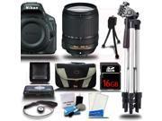 Nikon D5500 24.2 MP DSLR Camera w 18 140mm Lens Starter Bundle Black 16GB Reader 15pc Kit New