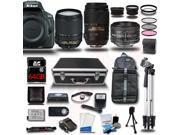 Nikon D5500 DSLR Camera Black w/ 18-140 + 55-300 + 50mm 5 Lens Kit Bundle 64GB