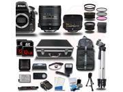 Nikon D810 Digital SLR 24-84mm & 50mm 4 Lens Kit + 2 Case + 2 Tripod + 64GB + Remote + More KIT14