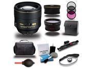 Nikon 85mm f/1.4G AF-S Nikkor 3 Lens 16pc Premium Bundle Kit + Bag + Filters + Wide-Angle & Tele Photo