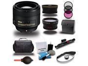 Nikon 85mm f/1.8G AF-S Nikkor 3 Lens 16pc Premium Bundle Kit + Bag + Filters + Wide-Angle & Tele Photo
