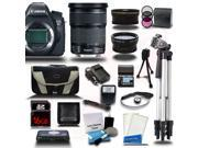 Canon EOS 6D SLR Camera w/ 24-105mm IS Lens 16GB 24PC Bundle Kit + Extra Battery + Tripod - New