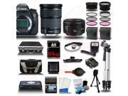 Canon EOS 6D SLR Camera w/ 24-105mm IS Lens 64GB 32PC Premium Bundle Kit + Extra Battery + Charger