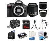 Nikon D3300 SLR Camera + 18-55mm VR + 3 Lens + 16GB + Case / Bag + Tripod - NEW