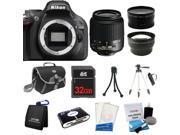 Nikon D5200 SLR Camera + 18-55mm VR + 3 Lens + 32GB + Case / Bag + Tripod - NEW