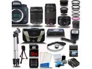 Canon EOS 7D Mark II DSLR Camera with 18-135mm + 75-300 + 50mm Lens Camera Bundle + 32GB