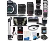 Canon EOS 7D Mark II DSLR Camera with 18-135mm + 75-300 + 50mm Lens Camera Bundle + 64GB