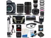 Canon EOS 7D Mark II DSLR Camera with 18-135 + 55-250mm STM + 50mm 5 Lens Pro Camera Kit + 16GB