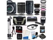 Canon EOS 7D Mark II DSLR Camera with 18-135mm + EF-S 55-250mm STM 4 Lens Camera Kit + 128GB