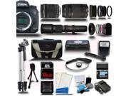Canon EOS 7D Mark II DSLR Camera with 18-135mm + 75-300 + 500mm 5 Lens Pro Camera Bundle Kit + 16GB
