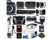 Canon EOS 7D Mark II DSLR Camera with 18-135mm + 75-300 + 500mm 5 Lens Pro Camera Bundle Kit + 64GB