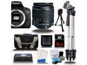 Canon Rebel T6I 700D +18-55mm +10PC Kit + 16GB + Reader + Case + More - NEW