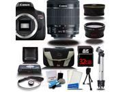 Canon Rebel T6I 700D Digital SLR Camera +18-55mm 3 Lens Kit Bundle + 32 GB + Reader + Case - NEW