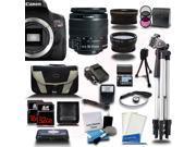 Canon Rebel T6I 700D + 18-55mm + 3 Lens Kit Bundle + 48GB + Card Reader + Flash + Case + More