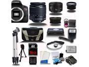 Canon Rebel T6I 700D + 18-55mm + 50mm 1.8 4 Lens Kit Bundle + 16 GB + Card Reader + Flash + Case + 2 Tripods + More